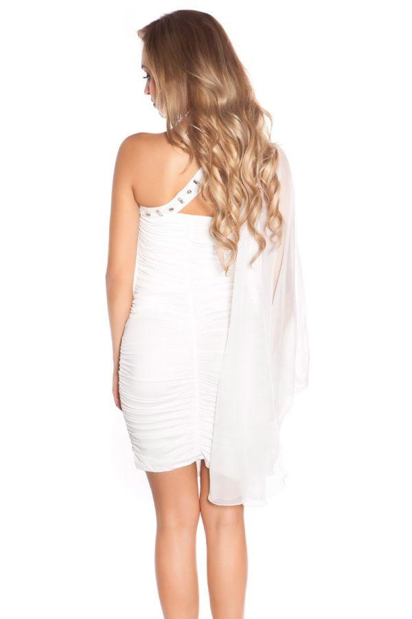 Dress Sexy Short Glitter Stones White ISDN377305