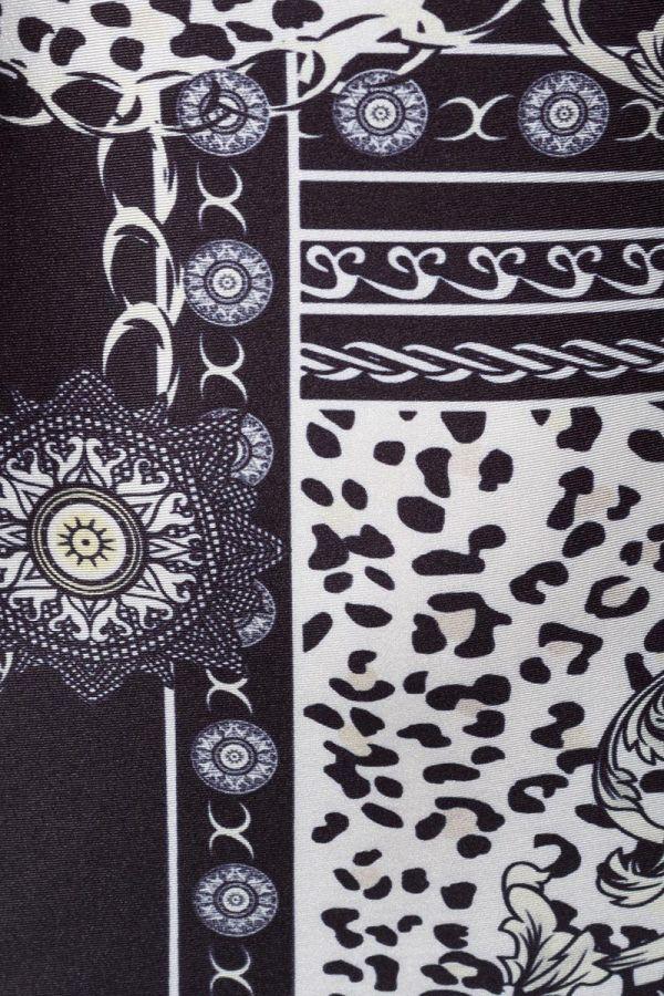 φόρμα baroque κοντό μανίκι μαύρο άσπρο.