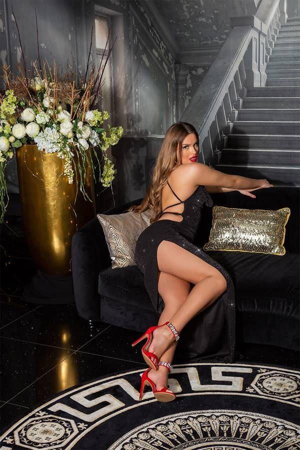 Φόρεμα Μάξι Βραδινό Σέξι Μαύρο ISDK2010872