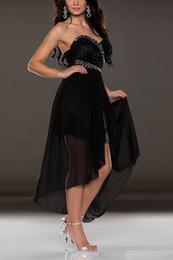 dress formal strapless black