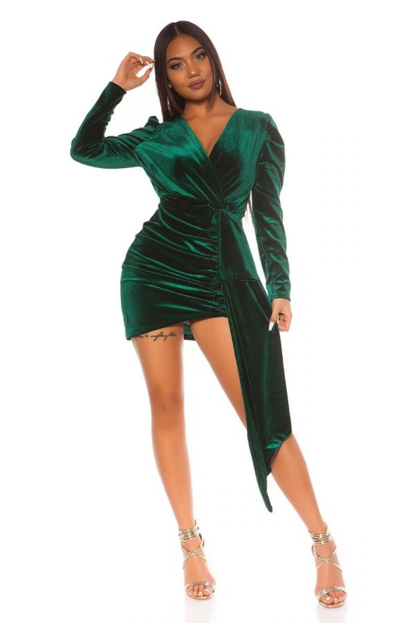 DRESS PARTY SUEDE LOOK GREEN ISDK142943