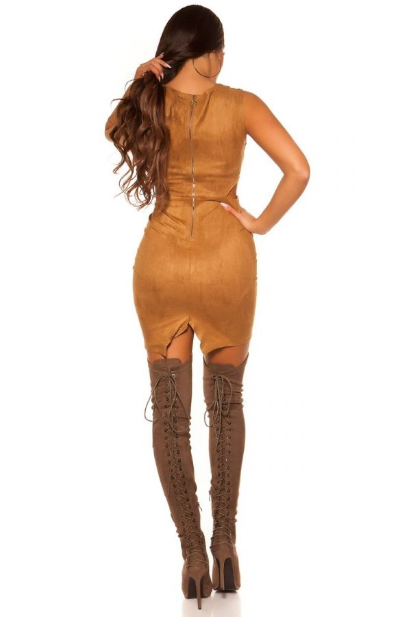 DRESS CLUB CUTOUTS SUEDE BRONZE ISD4416N3