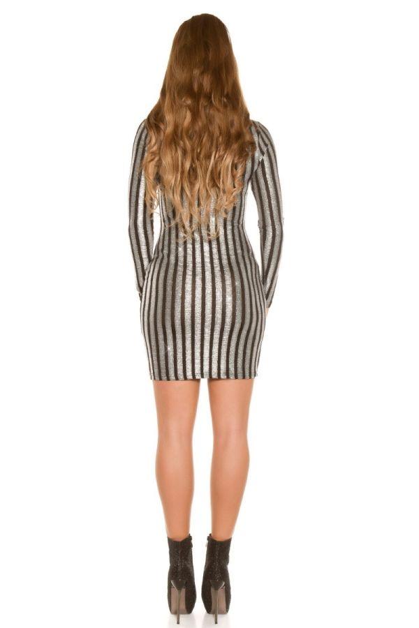 dress club long sleeves silver black.