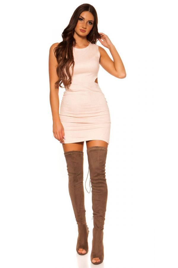 DRESS CLUB CUTOUTS SUEDE PINK ISD4416N3
