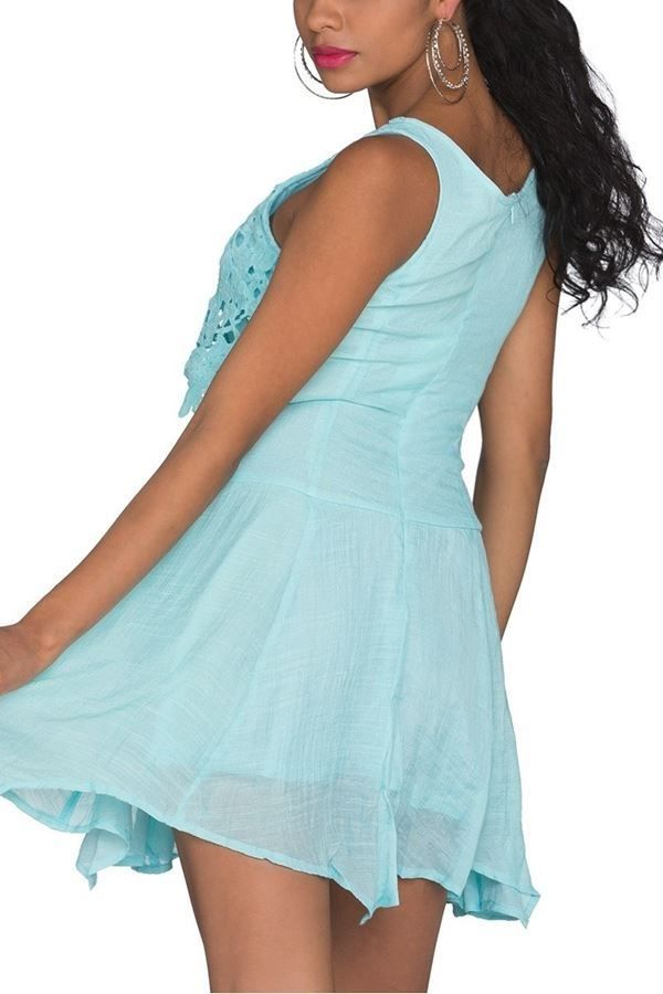 DRESS LACE TURQUOISE T2019308