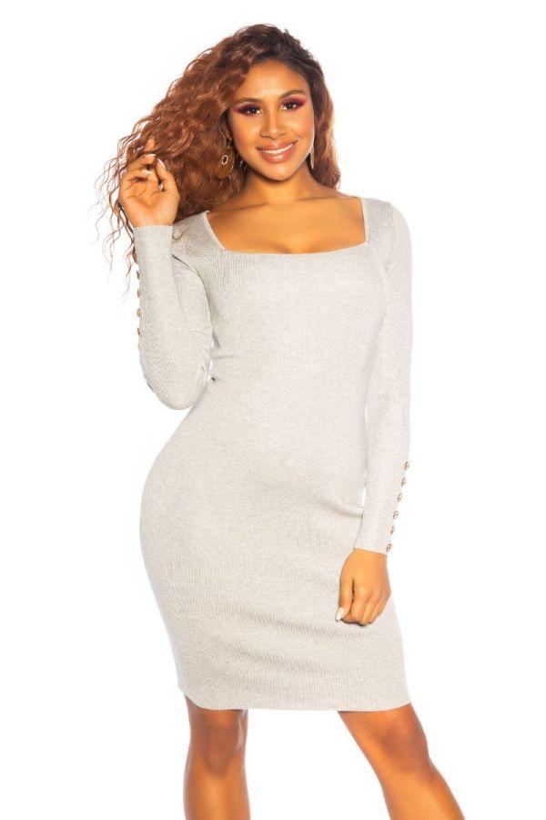 dress knitted impressing grey.