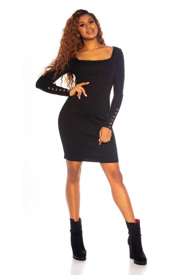 dress knitted impressing black.