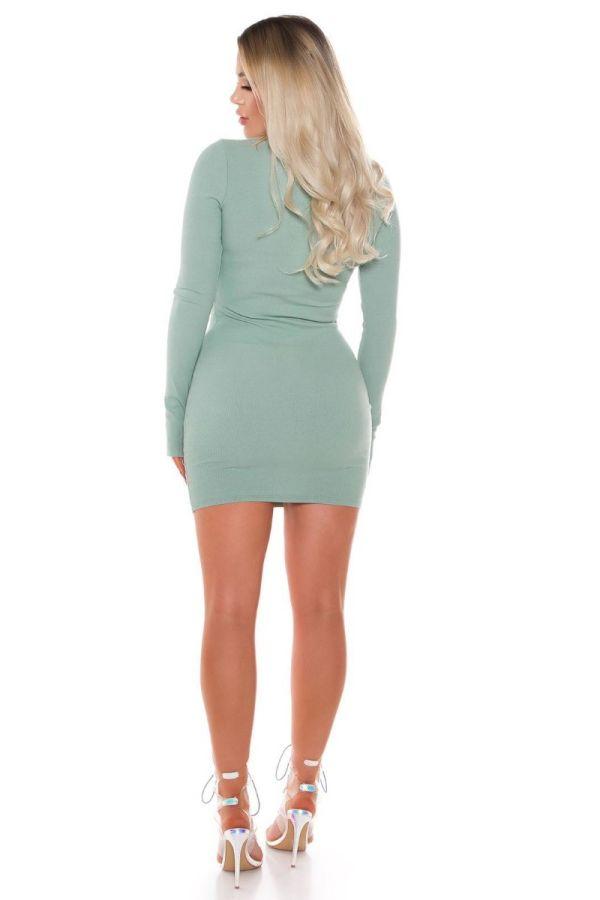 dress bodycon zipper light turquoise.