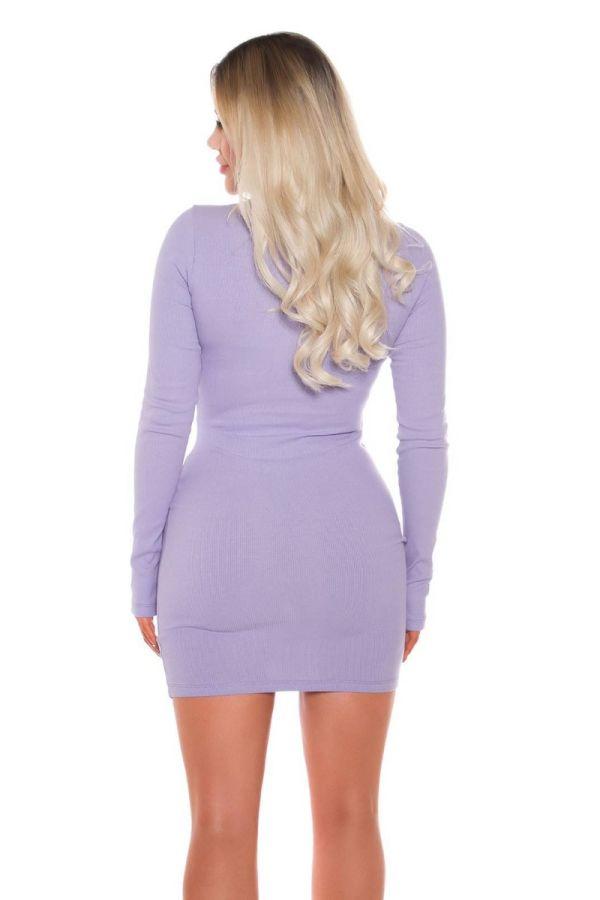 dress bodycon zipper lilac.