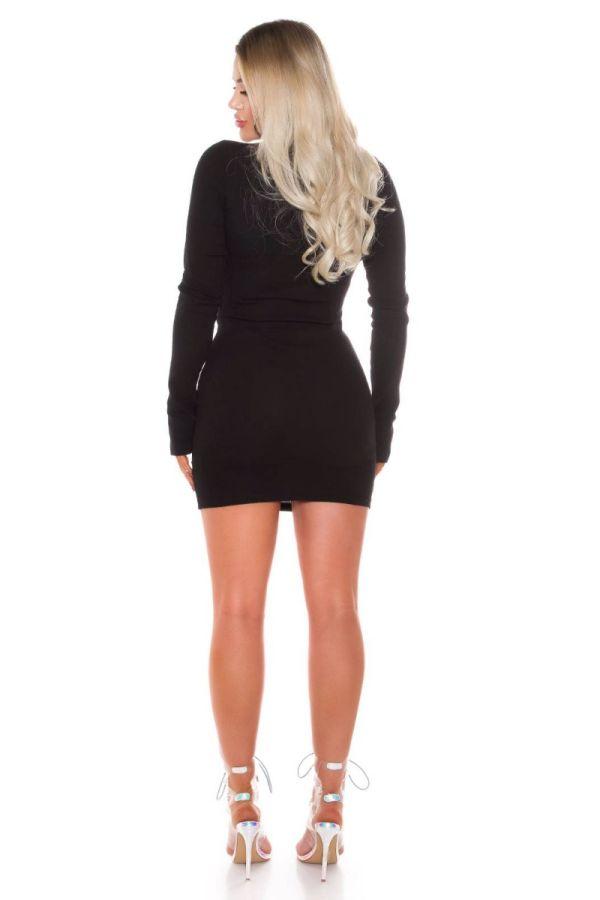 dress bodycon zipper black.