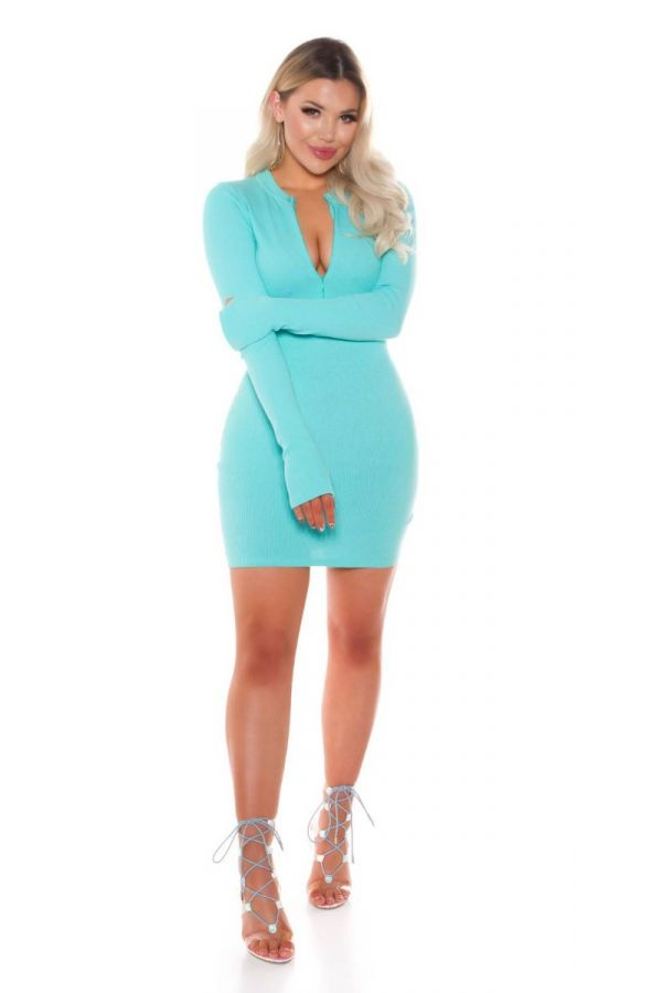 dress bodycon zipper mint.