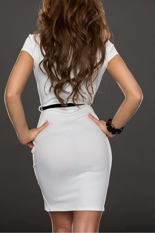 φόρεμα κοκτέιλ άσπρο μαύρο.