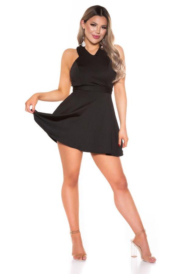 dress short sexy open back black.