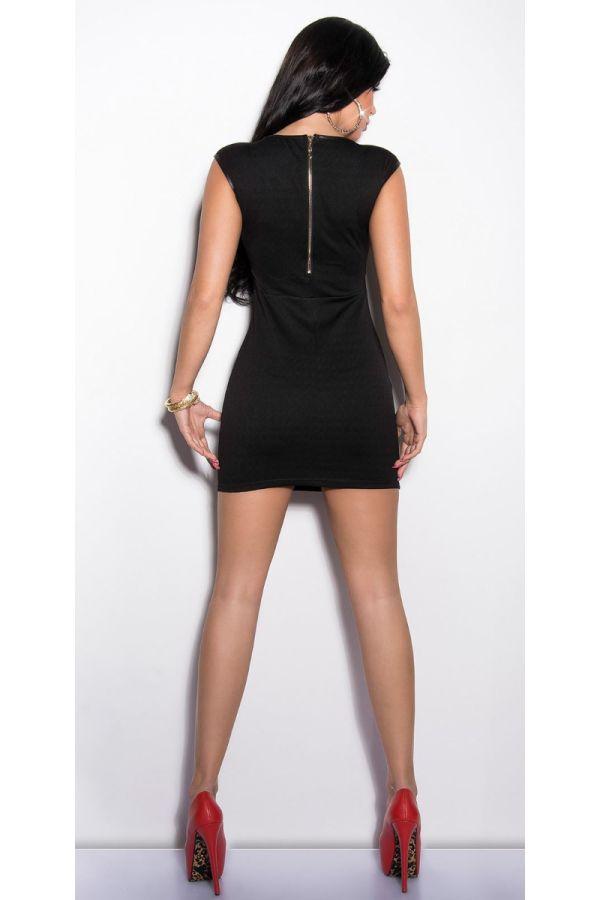 φόρεμα σέξυ κοντό εγκοπές μαύρο.