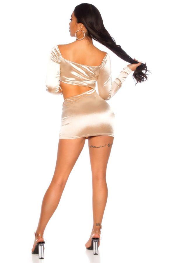 dress short sexy cutouts champagne.