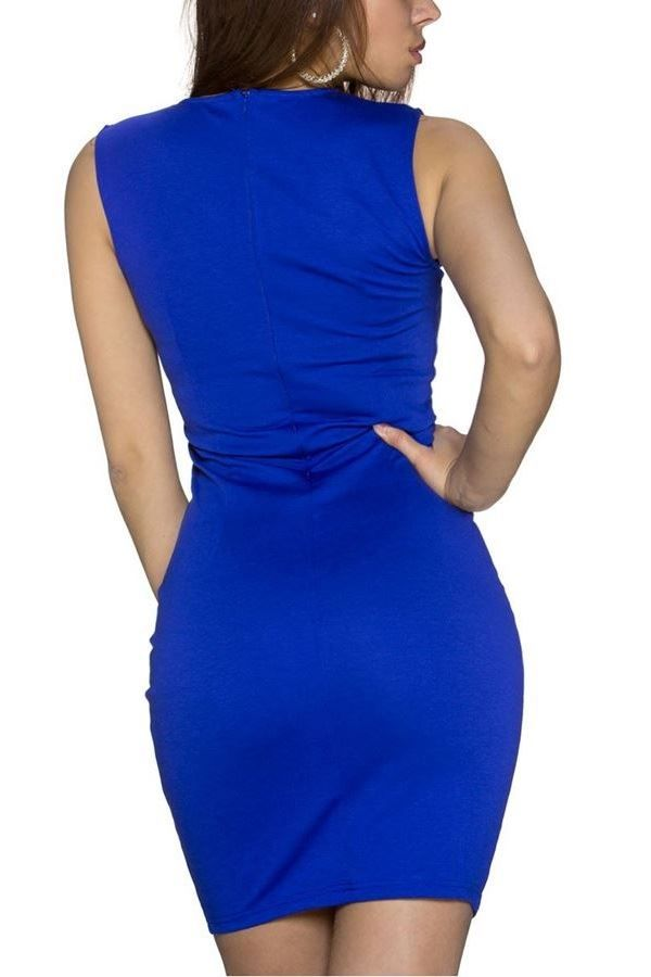 DRESS MINI GOLD DETAILS BLUE Q1921915