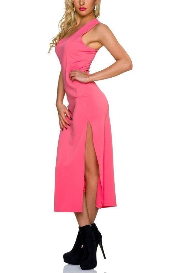 dress maxi sleeveless coral.