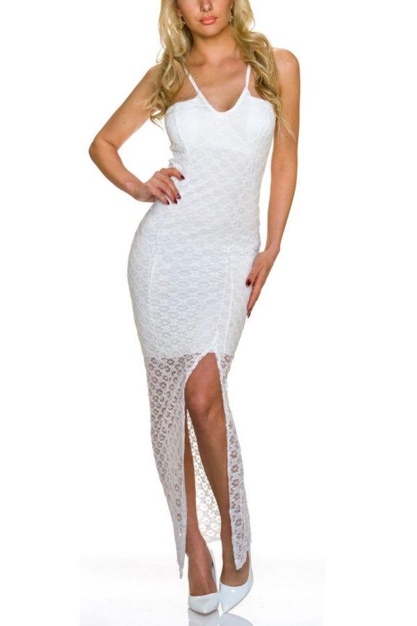 Dress Long Maxi Lace White QQ1723806