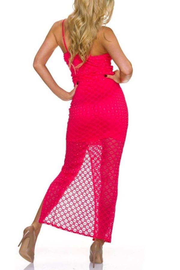 Dress Long Maxi Lace Salmon QQ1723806