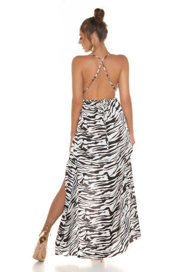 Dress Long Sexy Straps Slit Zebra ISDK96313