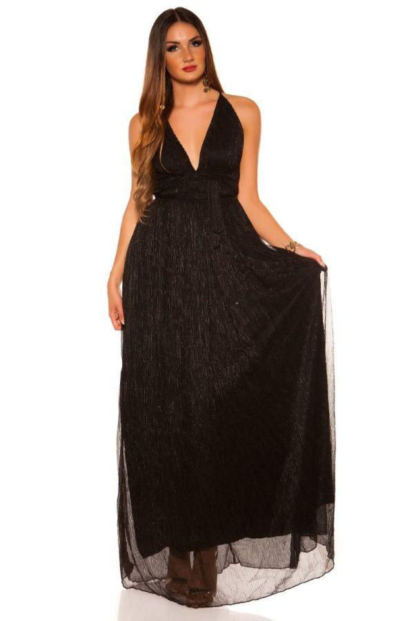Φόρεμα Μάξι Επίσημο Αμάνικο Μαύρο ISDK2009663