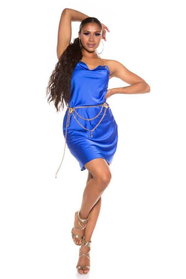 Dress Evening Golden Chain Blue ISDK285102
