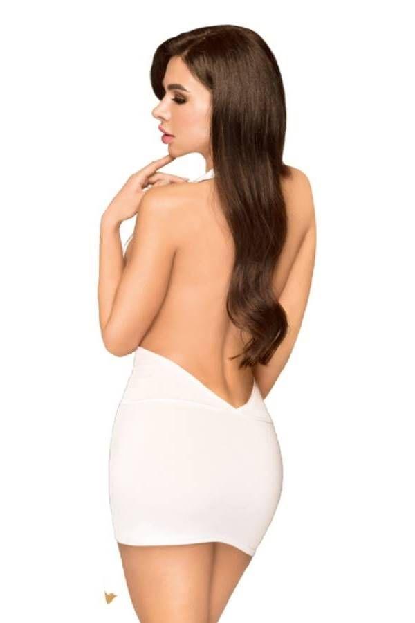 Night Dress String Sexy Back White DRED227530