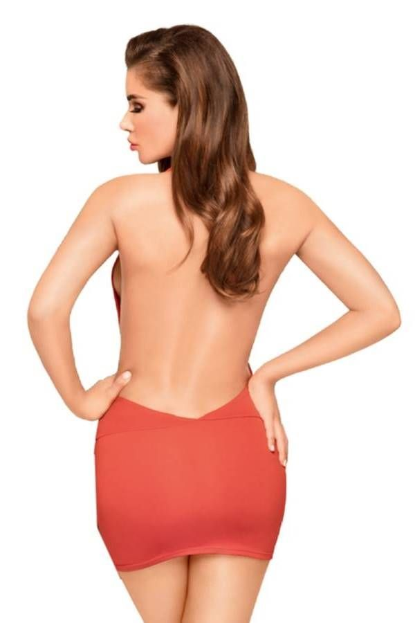 Night Dress String Sexy Back Red DRED227527