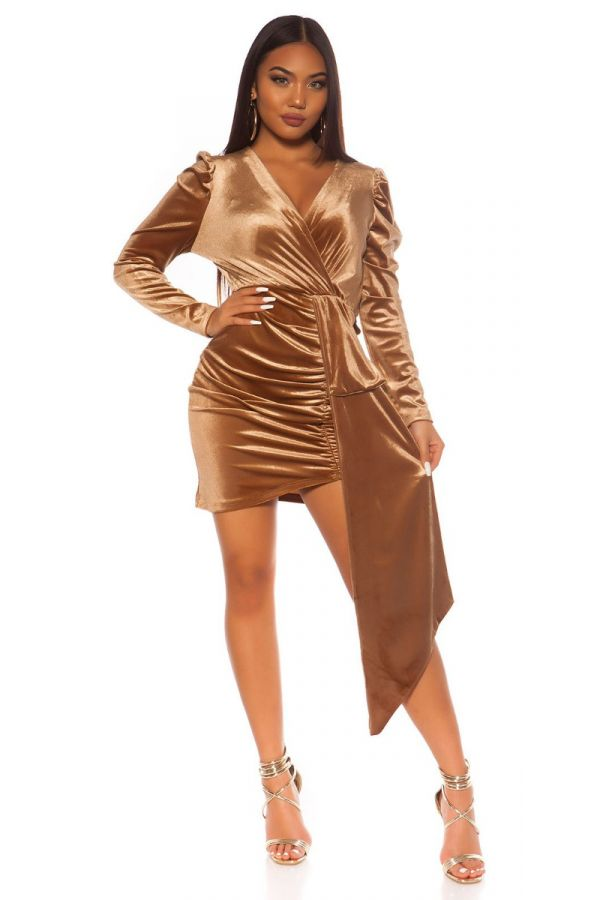 DRESS PARTY SUEDE LOOK CAPPUCCINO ISDK142943