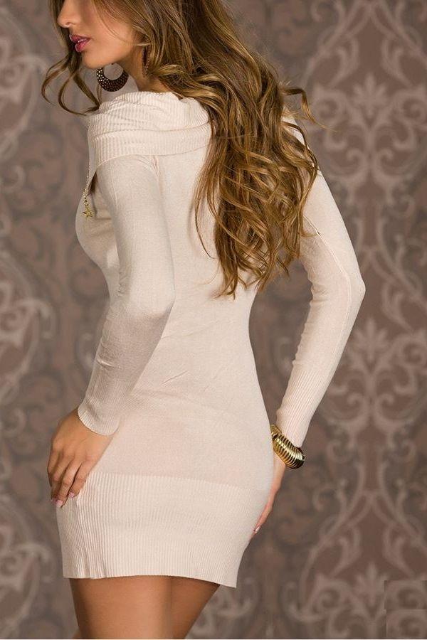 dress knitted beige.