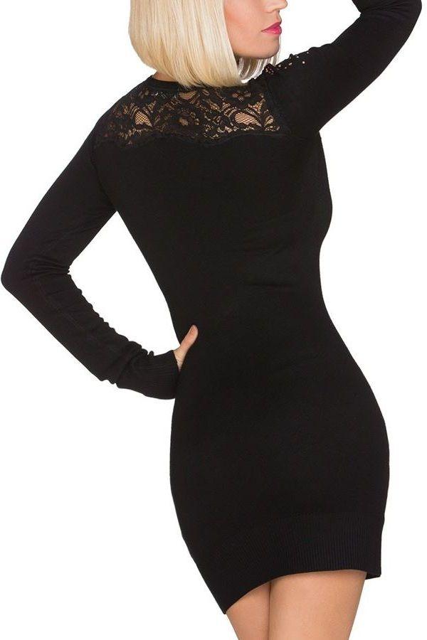 DRESS KNITTED BLACK Q2019573