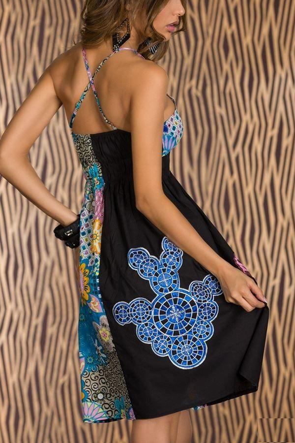 φόρεμα πολύχρωμο μαύρο.