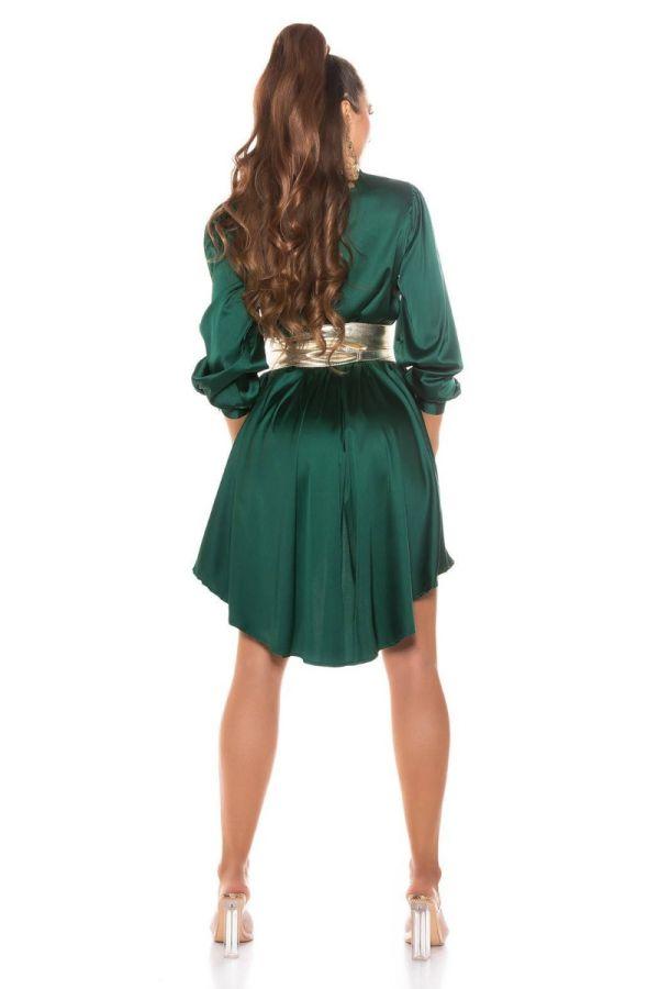 dress shirt buttons lapel satin green.
