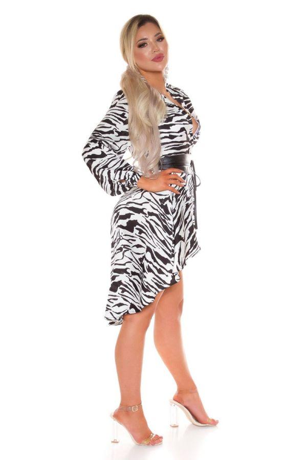 dress shirt buttons lapel satin zebra.