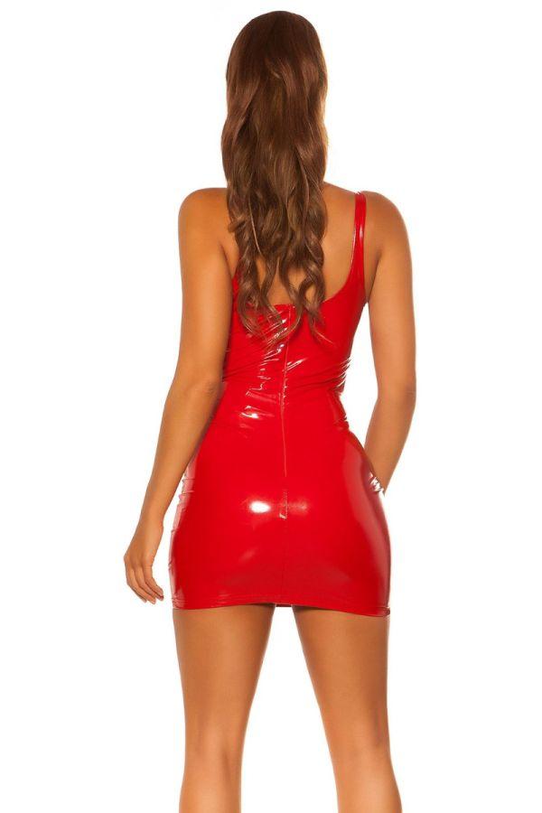 dress sexy mini vinyl red.