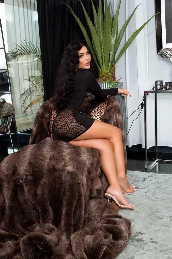 φόρεμα σέξι διαφάνεια δαντέλα μαύρο.