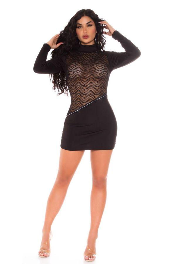 dress sexy transparecy lace black.