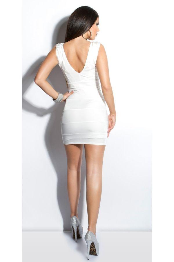 Dress Short Club Silver Stones White ISDK89995