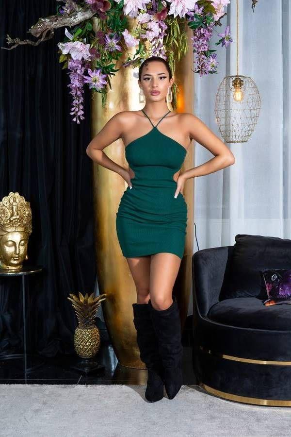 Dress Sexy Back Straps Green ISDK931949