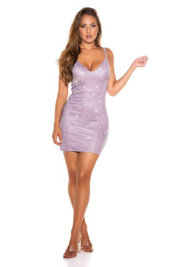 Dress Party Sexy Bodycon Metallic Lilac ISDK341515