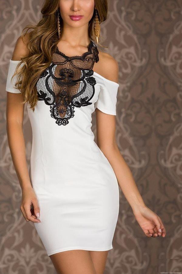 dress cross lace white.