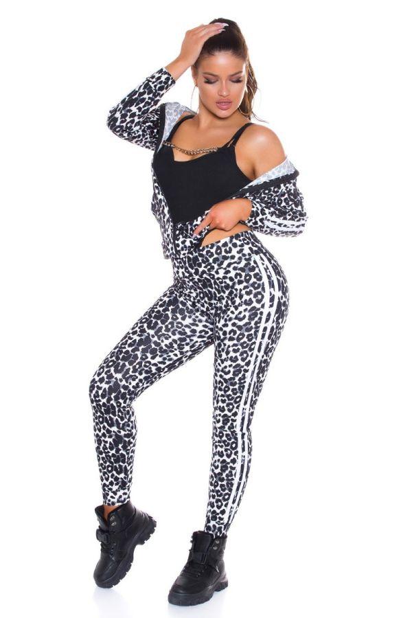 tracksuit set stripe leopard black.