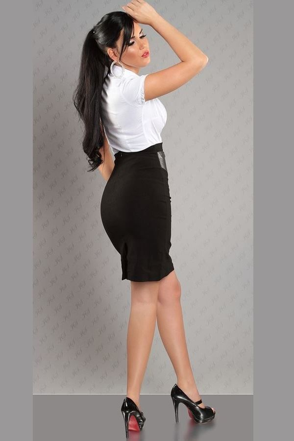 SKIRT PENCIL BELT BLACK ISDF2234