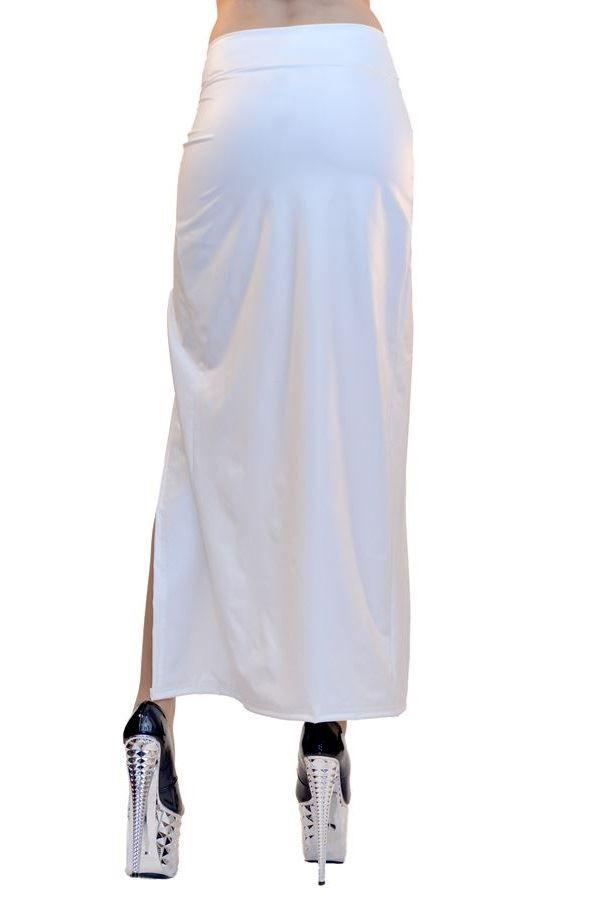ΦΟΥΣΤΑ ΣΕΞΙ ΜΑΞΙ ΕΝΣΩΜΑΤΩΜΕΝΟ ΣΟΡΤΣ WETLOOK ΑΣΠΡΗ BWB1122817