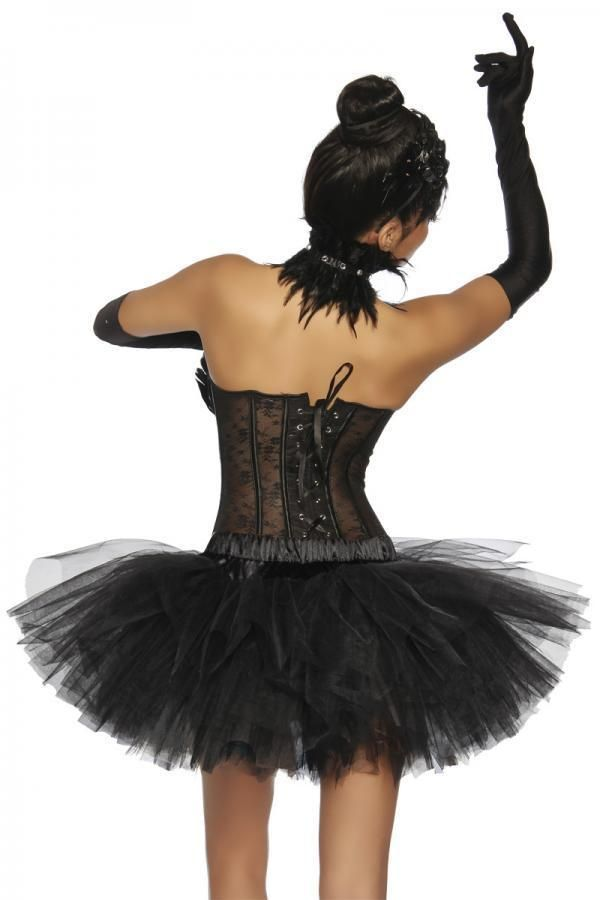 SKIRT TUTU SHORT TULLE BLACK DAT2013173