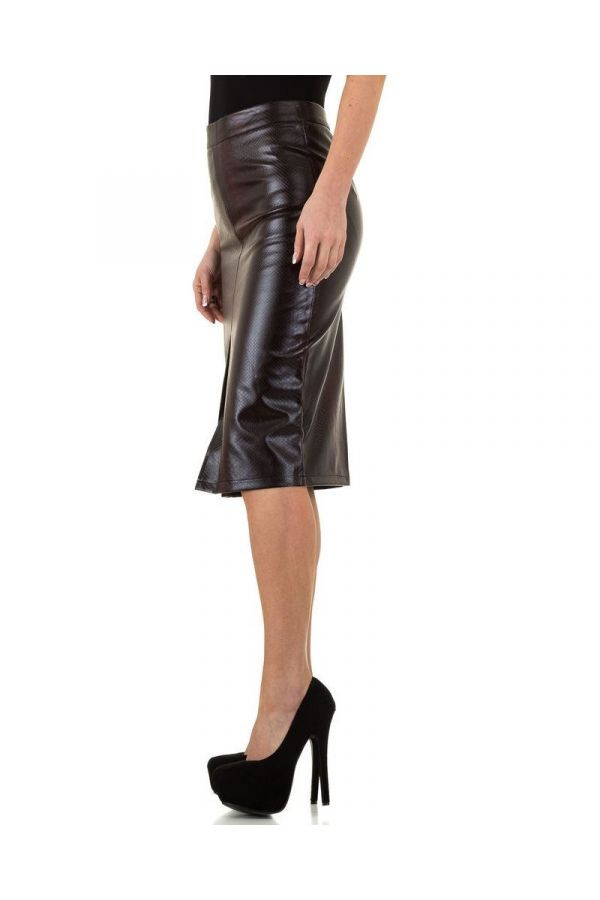 SKIRT LEATHERETTE BLACK BORDEAUX FSWP10731