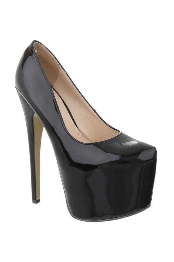 FSW00071 PUMP HIGH HEEL PATENT BLACK