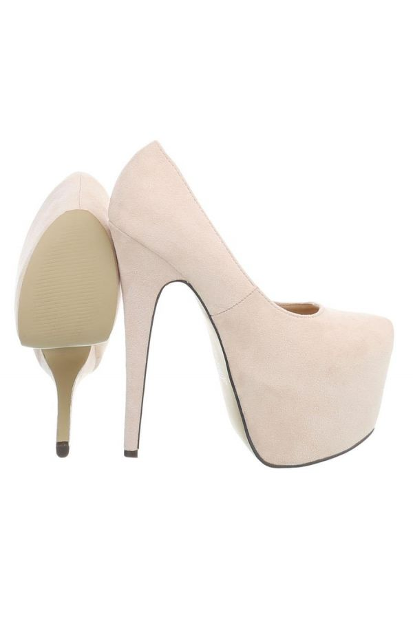 PUMP HIGH HEEL SUEDE BEIGE FSW00093