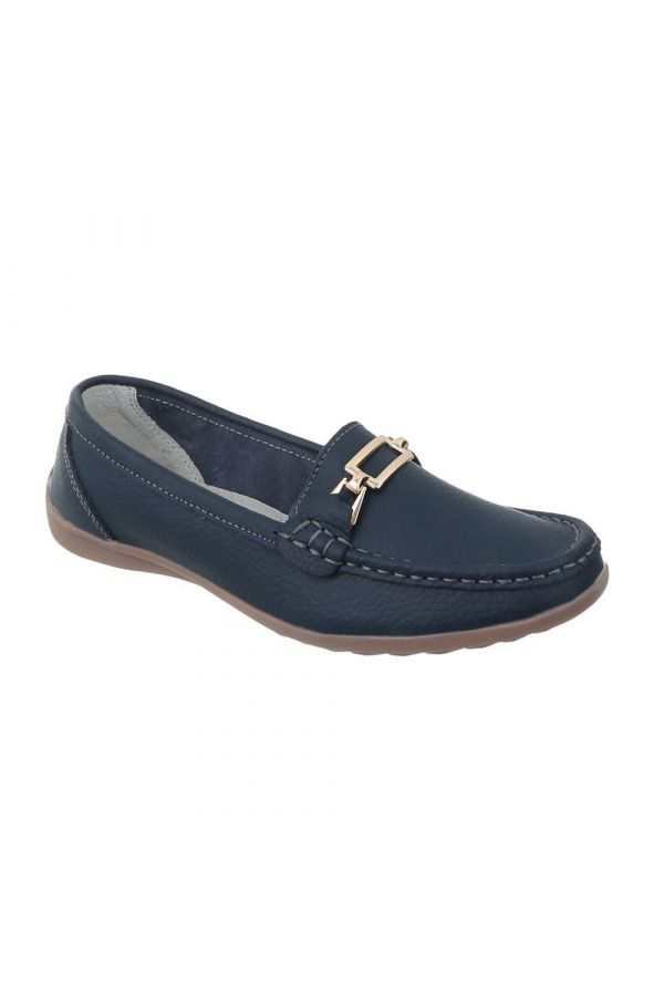 FSW05111 MOCCASIN LEATHER BLUE