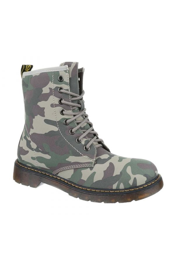FSW135711 ANKLE BOOT CAMOUFLAGE GREEN